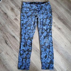 Seven 7 Floral Printed Skinny Jeans Petite